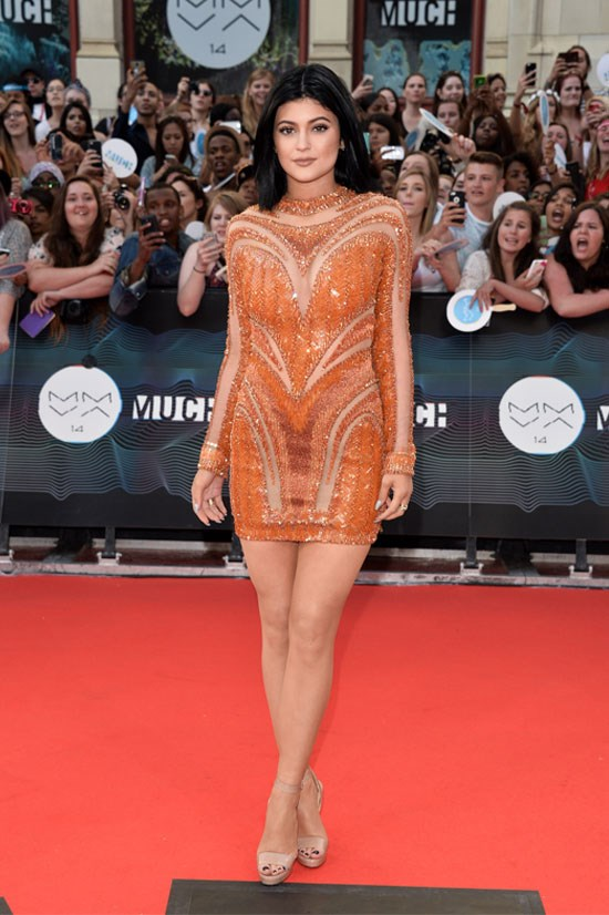 Kylie attends the 2014 MuchMusic Video Awards.