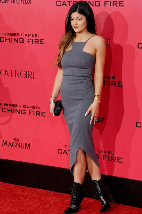 Kylie Jenner attends the premiere of <em>The Hunger Games: Catching Fire</em>.