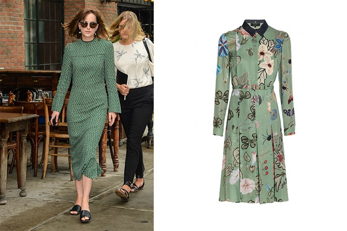 "<p>Dakota Johnson is rapidly becoming one of Hollywood's best dressed, this little number proving it.</p> <p>Floral silk dress, $1430, <a href=""https://www.bysymphony.com/gucci-floral-print-dress-37587.html?utm_source=polyvore_au&utm_medium=display&utm_campaign=day%20dresses "">By Symphony</a></p>"
