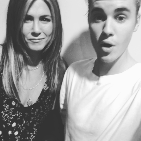 Jennifer Aniston and Justin Bieber? Image: Instagram