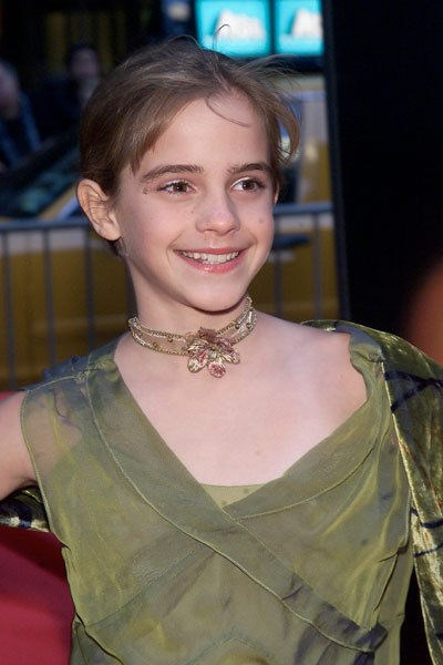 NOVEMBER 2001 At her first movie premiere, for Harry Potter and the Philosopher's Stone.