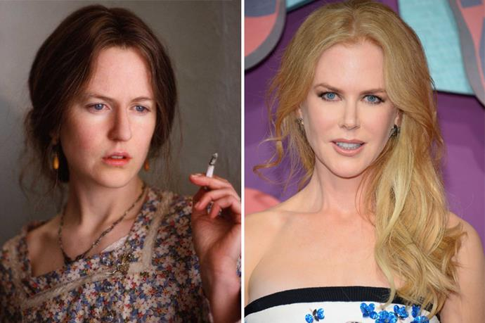 As did Nicole Kidman, who looked insanely different with her fake nose.