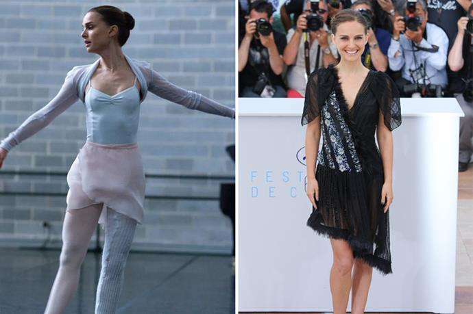 Natalie Portman got dropped weight to play her Oscar-winning-psychopathic role in <em>Black Swan</em>.