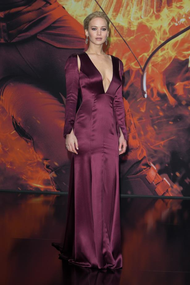 Jennifer Lawrence in Christian Dior Couture.