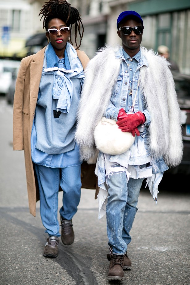 Do matching double denim.