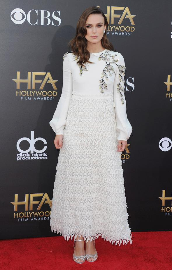 Once again with the white embellished dresses.