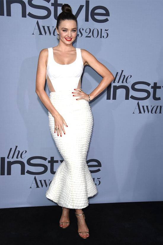 Miranda Kerr at the InStyle Awards in Los Angeles.