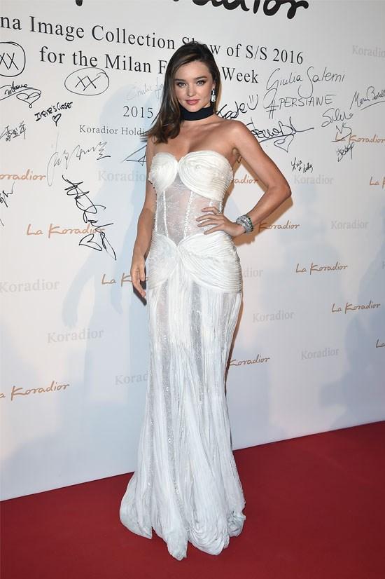 Miranda Kerr at the La Koradior SS16 show in Milan.