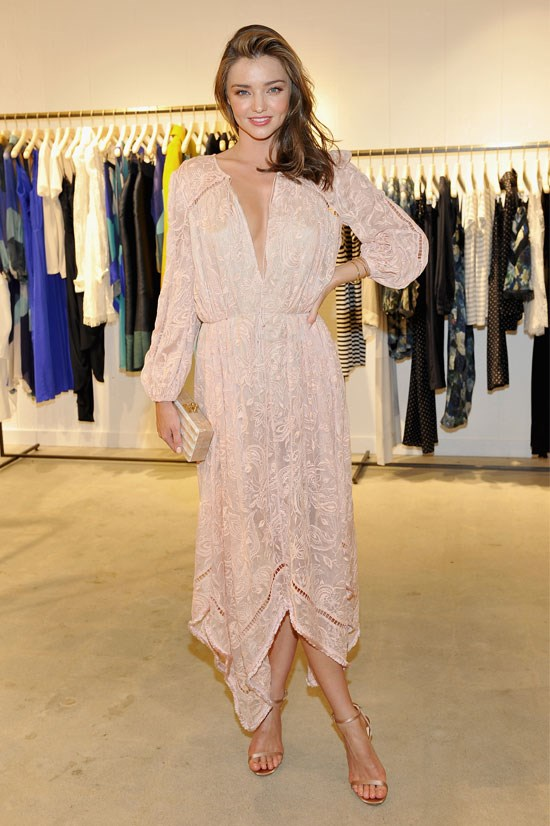 Miranda Kerr celebrates the opening of the Zimmermann Melrose Place flagship store in Los Angeles.