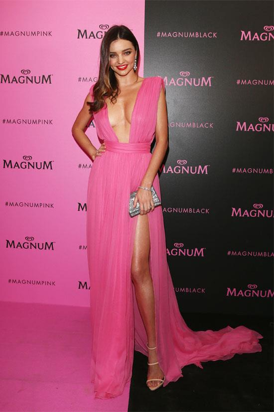 Miranda Kerr all in pink during Cannes Film Festival.