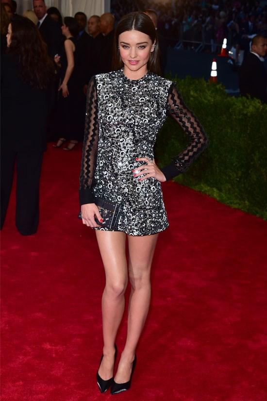Miranda Kerr shimmers at the MET Gala 2015.