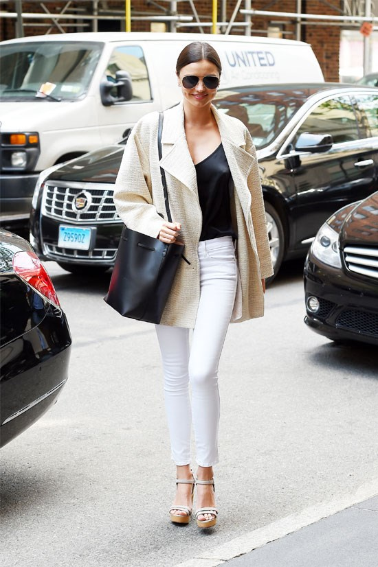 Miranda Kerr goes a little corporate while in New York.
