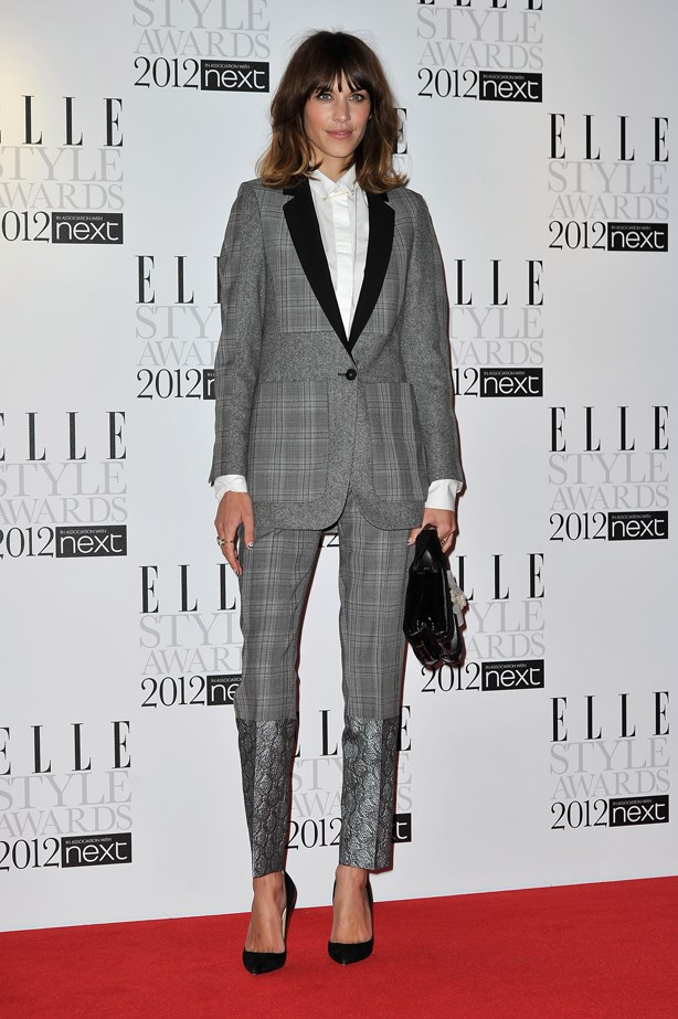 Alexa Chung did it in charcoal.