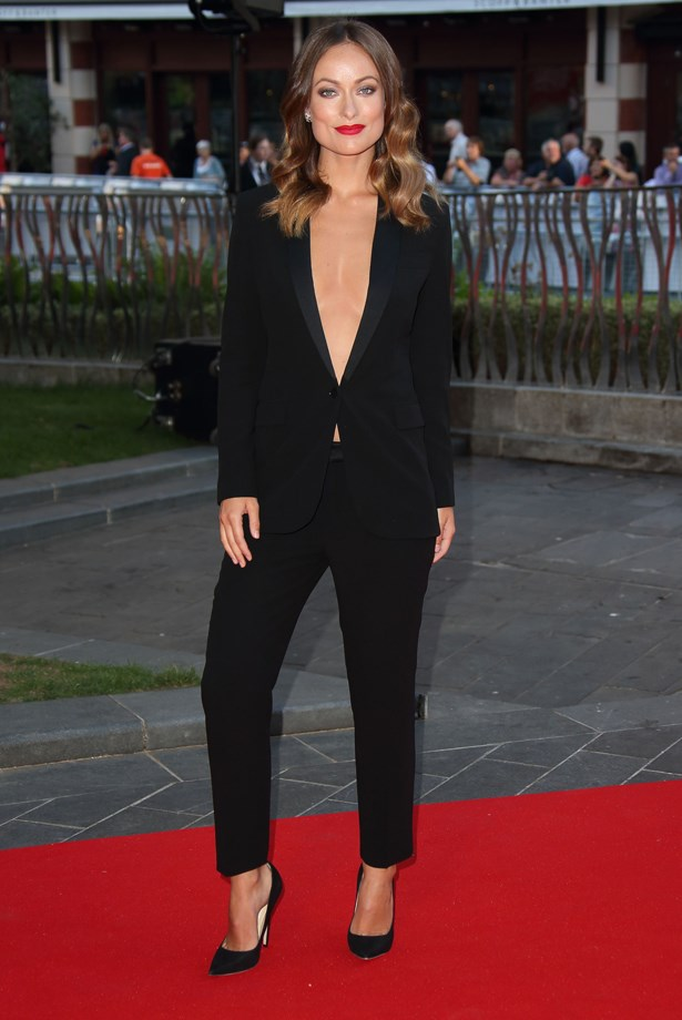 Olivia Wilde went low at the premiere of <em>Rush</em>.