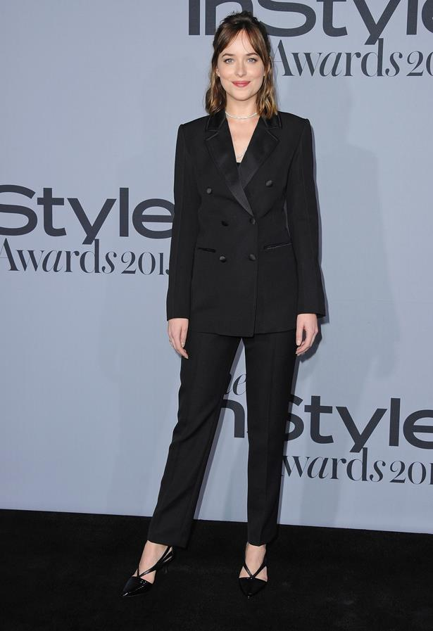 Dakota Johnson looked strong and sleek at the InStyle Awards.