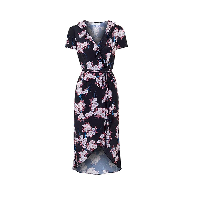 "Wrap dress, $95, <a href=""http://www.topshop.com/en/tsuk/product/new-in-this-week-2169932/new-in-dresses-4938909/wrap-over-dress-by-oh-my-love-4976448?bi=0&ps=200"">Topshop</a>."