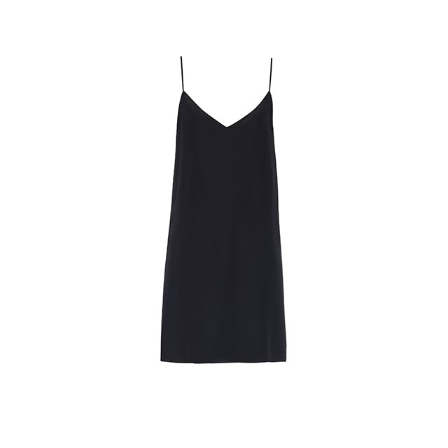 "Silk slip dress, $245, <a href=""http://www.matchesfashion.com/au/products/Raey-Deep-V-silk-slip-dress-1043506"">Matches Fashion</a>."