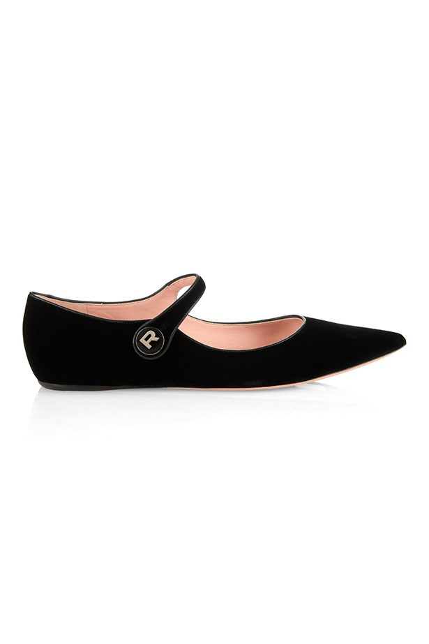 "Flats, $701, Rochas, <a href=""http://www.matchesfashion.com/au/products/Rochas-Point-toe-velvet-flats-1018983"">matchesfashion.com</a>"