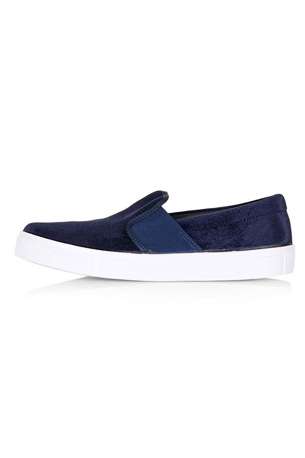 "Sneaker, $43, Topshop, <a href=""http://www.topshop.com/webapp/wcs/stores/servlet/ProductDisplay?Ntt=velvet&storeId=12556&productId=22409727&urlRequestType=Base&categoryId=&langId=-1&productIdentifier=product&catalogId=33057"">topshop.com</a>"
