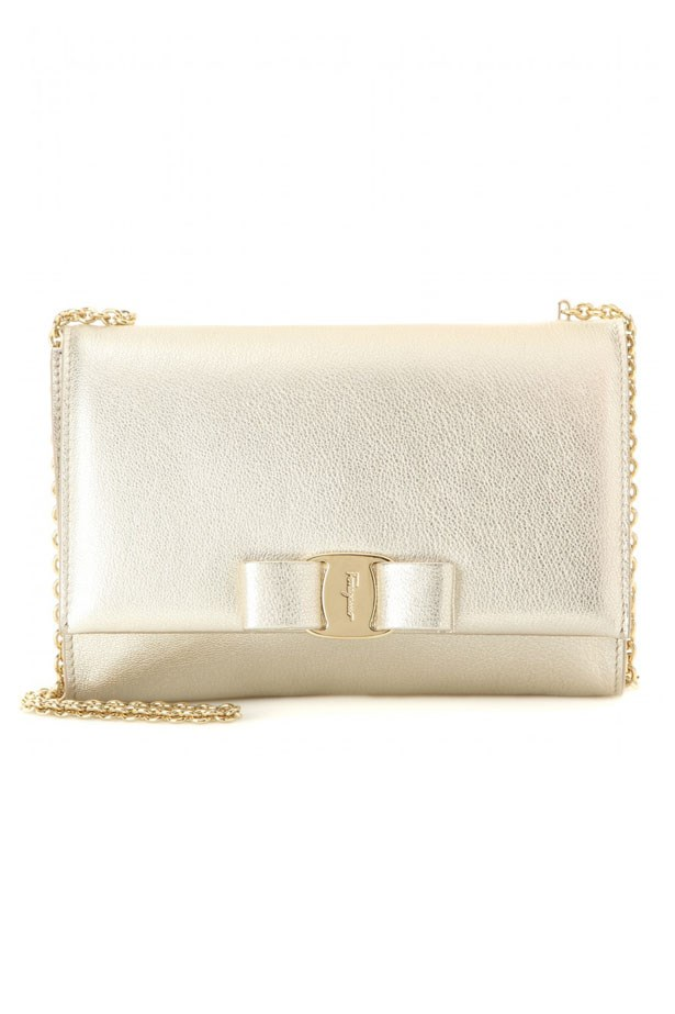 "Bag, $815, Salvatore Ferragamo, <a href=""http://www.mytheresa.com/en-au/ginny-small-metallic-leather-shoulder-bag.html?utm_source=affiliate&utm_medium=polyvore.au"">mytheresa.com</a>"
