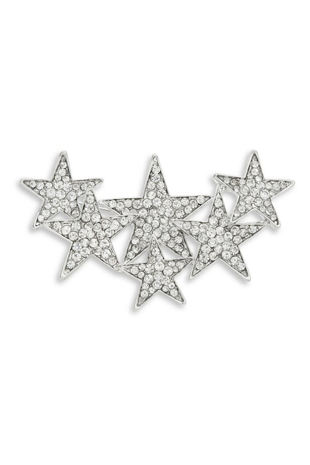 "Crystal Star Brooch, $35, R.J Graziano, <a href=""http://www.lordandtaylor.com/webapp/wcs/stores/servlet/en/lord-and-taylor/crystal-star-pin"">lordandtaylor.com</a>"