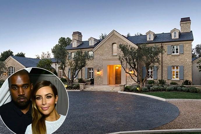 Kim Kardashian and Kanye West's $20 million LA Mansion.