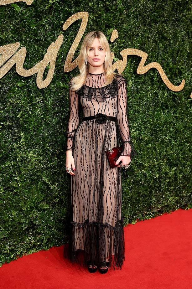 Georgia May Jagger at the British Fashion Awards