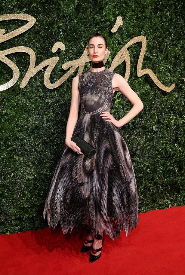 Erin O'Connor at the British Fashion Awards.