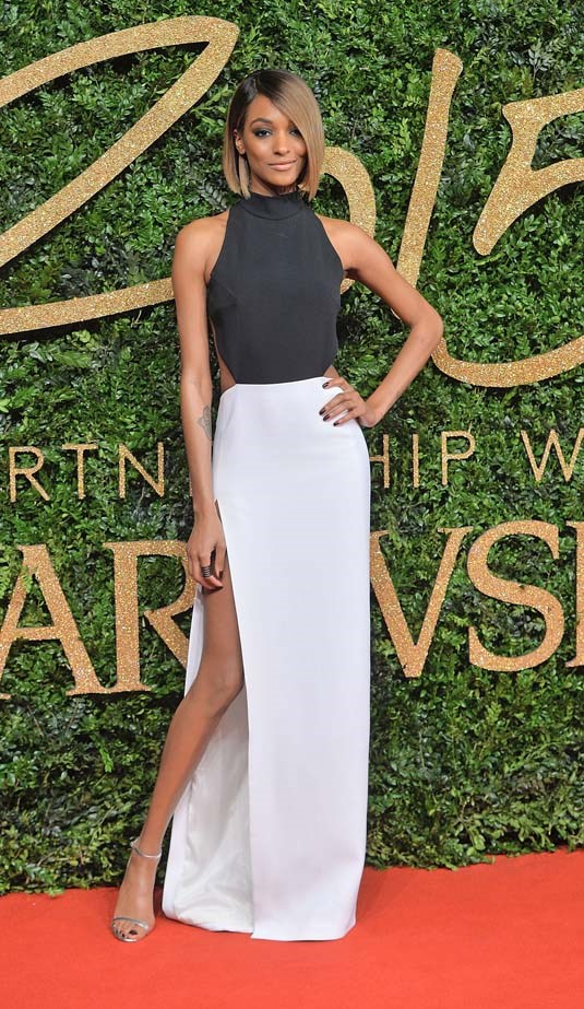 Jourdan Dunn attends the British Fashion Awards. Oh and she won model of the year!