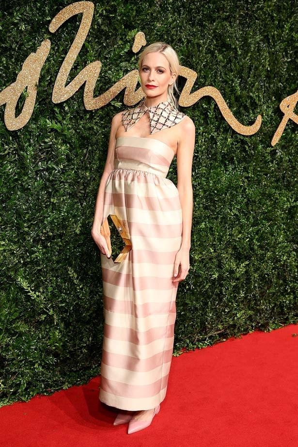 Poppy Delevingne attends the British Fashion Awards.