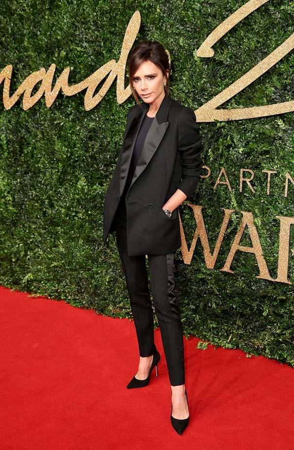 Victoria Beckham attends the British Fashion Awards.