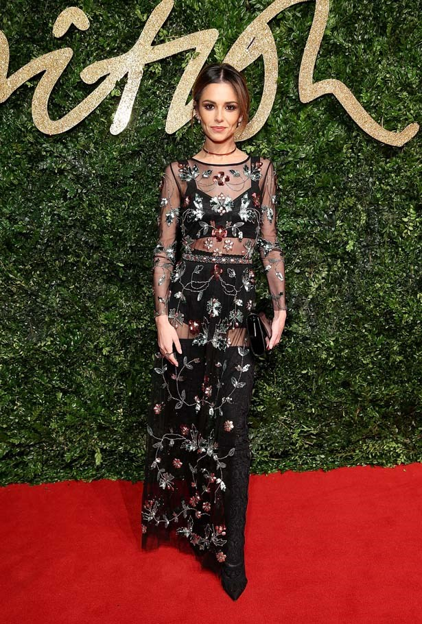 Cheryl Fernandez-Versini attends the British Fashion Awards.