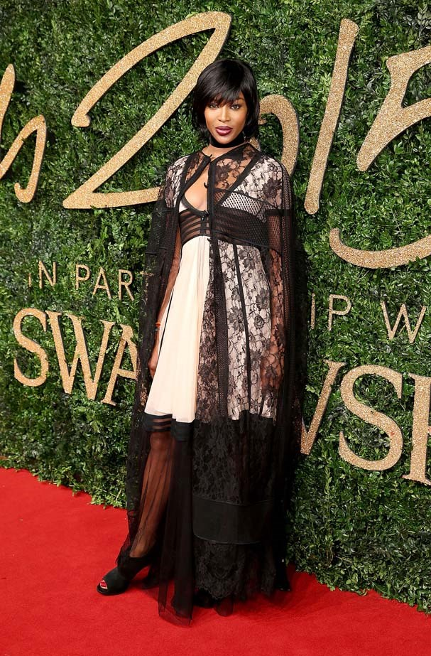 Naomi Campbell attends the British Fashion Awards.