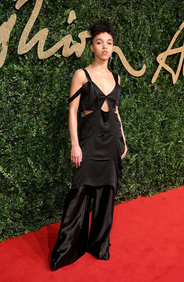 FKA Twigs who won the British Style Fashion Innovator Award at the British Fashion Awards.