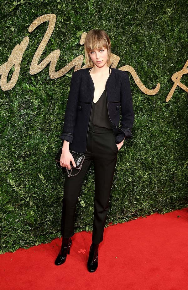 Edie Campbell attends the British Fashion Awards.