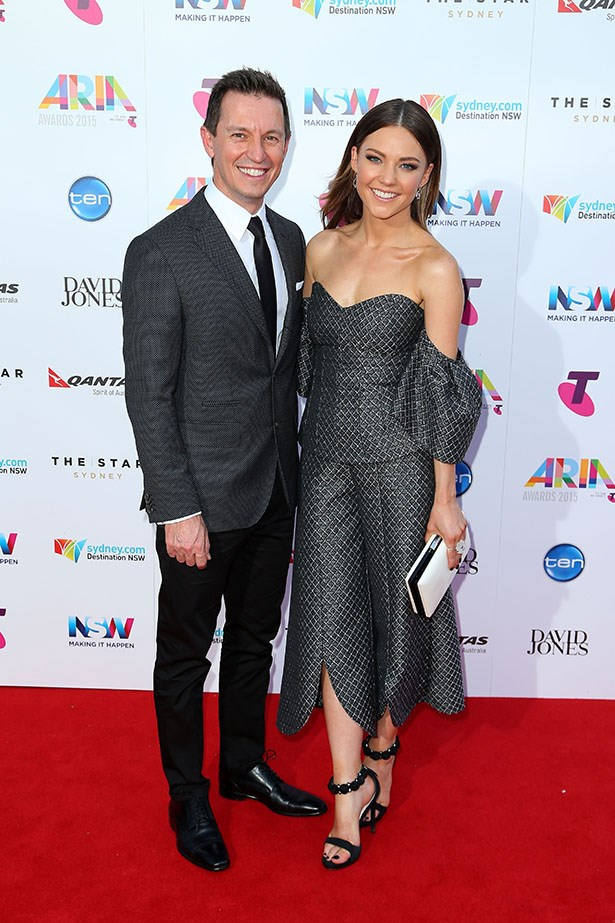 Rove McManus and Samantha Frost
