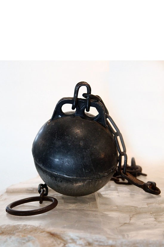 """<strong>Vintage Ball and Chain</strong>, approx. $AU2,075, <a href=""""http://blackmancruz.com/products/vintage-ball-and-chain"""">blackmancruz.com</a> <br> <br> Shipping and handling may be a wee bit complicated with this one."""