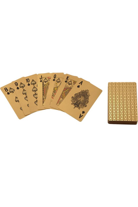 """<strong>Gilded playing cards with leather card case</strong>, approx.. AU$3,184, Just One Eye, <a href=""""If you're a bit sick and tired of Uno (never!), then perhaps this set of cards will add to your game."""">justoneeye.com</a> <br> <br> If you're a bit sick and tired of Uno (never!), then perhaps this set of cards will add to your game."""