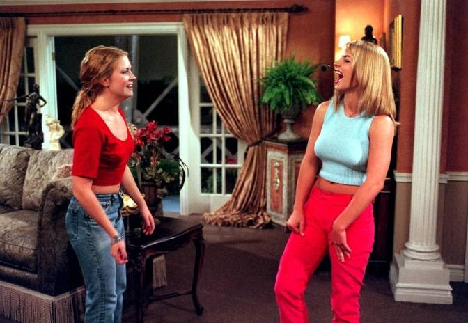 Britney Spears was never afraid of a cameo. Case in point the time she appeared on Sabrina the Teenage Witch. Image via answers.com