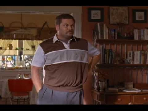 Before Nick Offerman played the role he was born to as Ron Swanson on Parks and Recreation, Offerman appeared on Gilmore Girls. Image via Youtube.com