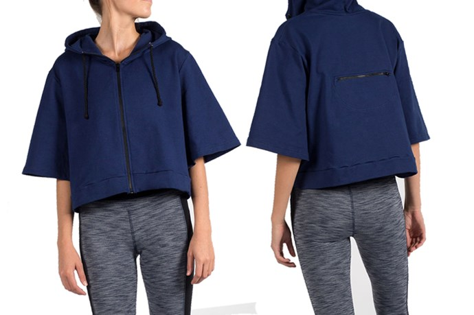 """<a href=""""http://estore.onceuponarun.com.au/collections/women-outerwear/products/side-kick-hoodie"""">Once Upon A Run 'Side Kick' hoodie, $95.</a>"""