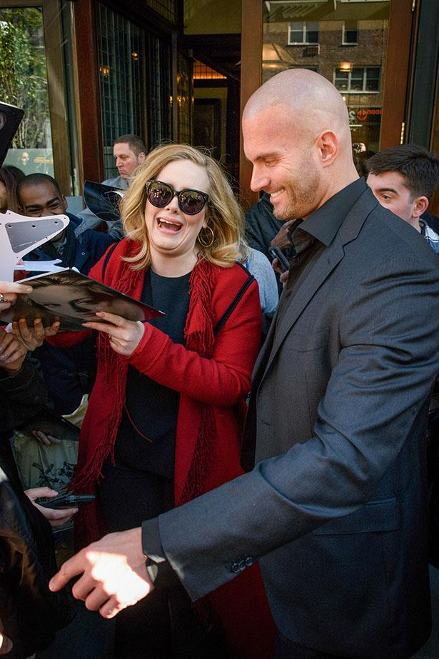 Hello, Adele's bodyguard, it's meeeee.