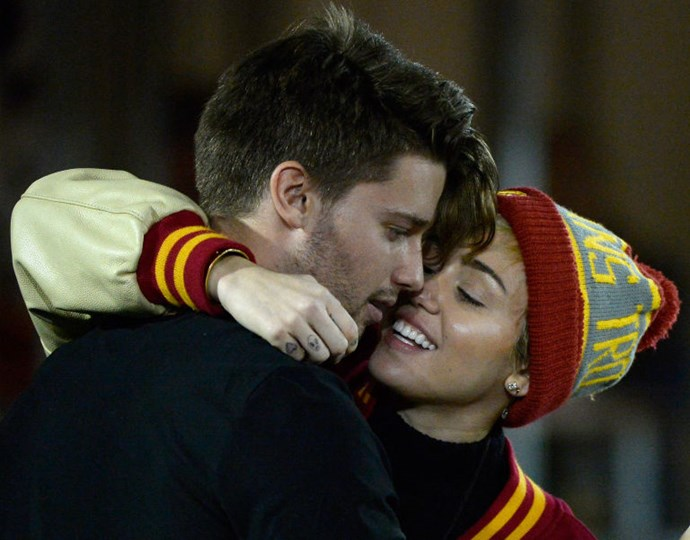 """16. Miley Cyrus and Patrick Schwarzenegger <br> We're still in the """"whatever"""" section of this list. Because frankly, all we want is for her to get back with Liam Hemsworth. Is that so wrong?"""