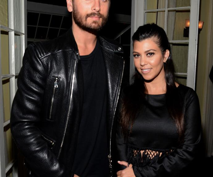 Scott Disick and Kourtney Kardashian.