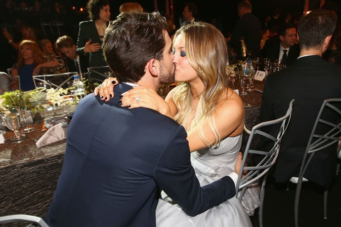 9. Kaley Cuoco and Ryan Sweeting<br> Did we think this marriage was going to make it to its golden anniversary? No. But that's exactly why we were rooting for it to last. Their love-at-first-date story—girl meets boy, girl invites boy home with her, boy then moves in rather than ever leave—was deliciously appealing. <br>Celebrities make rash decisions all the time, but hardly any of them are so upfront about it, and this total unbridled honesty lent the Cuoco-Sweeting union an interesting off-script quality. <br>You could almost hear her team of advisors begging her to take it slow and maybe stop yapping about him so much, and imagine her waving away their concern as she made room in her den for his furniture and then planned another over-the-top party celebrating their love. For gossip's sake, we wish more couples would wear their hearts on their sleeves this way. If only it had worked out for this one.
