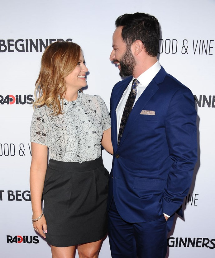 7. Amy Poehler and Nick Kroll<br> America loves a comedy couple and really loves Amy Poehler. If she can't have her Parks and Rec paramour Adam Scott, we want her to be with someone else who is her funny, charming equal.<br> It was sad enough when she and Will Arnett split, and now that Amy and Kroll are dunzo, with whom are we supposed to imagine her cracking wise over margaritas next to the pool? Oh, wait—Tina Fey, obviously. <br>At least those two will never break up. Right? Right?