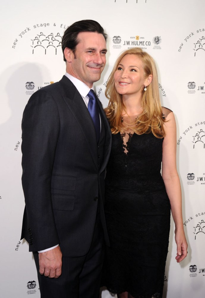 4. Jon Hamm and Jennifer Westfeldt<br> These two got together nearly 20 years ago, when both were struggling actors.<br> And even though he finally hit it big as the smoky, boozy, hunky hot mess Don Draper, one of the sexiest things about Jon—and rarest, in Hollywood—was his loyalty to his longtime partner. <br>The Internet, which would never lie to us, claims they couldn't weather his fledgling sobriety (and that he'd allegedly gotten sloppy with fidelity, which we did warn you was a theme this year). <br>Whatever the reason, it's a wicked bummer to see two actors weather one of them achieving legitimate A-list fame, only to fall apart right at the finish line. <br> There's even a booth at L.A. staple Little Dom's named for Jon and Jennifer. What's going to happen to that now? Will no one think of the booth plaques?!?