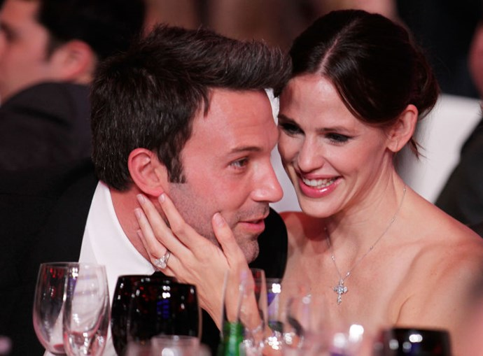 3. Ben Affleck and Jennifer Garner<br> Everyone had heard this raft of rumors: his cheating, and her refusal to call a time of death; his addiction, and her increasing lack of sympathy; his resentment, and eventually, hers. <br> But we did not think Jennifer Garner, who hung in there with this fool for 10 years, would ever actually apply boot-to-Bfleck-ass. Apparently, her pride eventually won out. It's sad that a guy with a loving family, and a wife who just wants him to be better than his demons do, can't pull his shit together enough to keep it in his pants around the nanny (his reps denied the affair, but it was reportedly the final straw in his marriage). <br>So even though Jennifer may be better off, we feel for those kids—do not Google your father, Seraphina—and we mourn the fact that the 10-year milestone only seems to get respect in Hollywood because of what it means to your division of property.