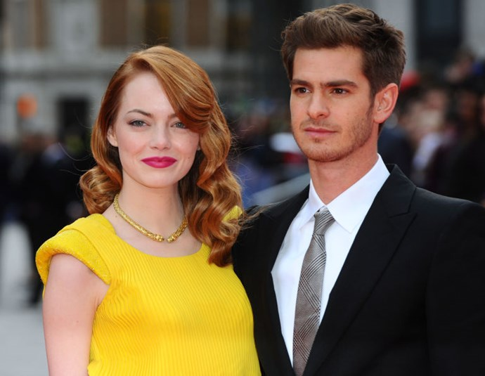 2. Emma Stone and Andrew Garfield<br> This is shake-your-fist-at-the-sky stuff right here. It's immensely satisfying when two hot young actors find love on the set of their blockbuster and actually make it last. <br>And immensely disappointing when, ultimately, it doesn't. They just seemed so solid, so similar: supremely talented, similarly adorable, surprisingly normal, smartly witty. <br>But if we're being honest with ourselves, we anticipated this. He was 28 when they started dating and she was 23; the odds of finding your lobster at that tender age are slim, and those five years matter a lot in your early 20s. <br>All of which clearly led to the most agonising yet relatable kind of breakup: the kind where there's nothing wrong with the other person, but you're just in different phases of your life. <br>At least, we assume that's what happened, which means we can hold out hope for Starfield babies in five to seven years when they decide they're older and wiser and can't live without each other. It's the only way to cope.