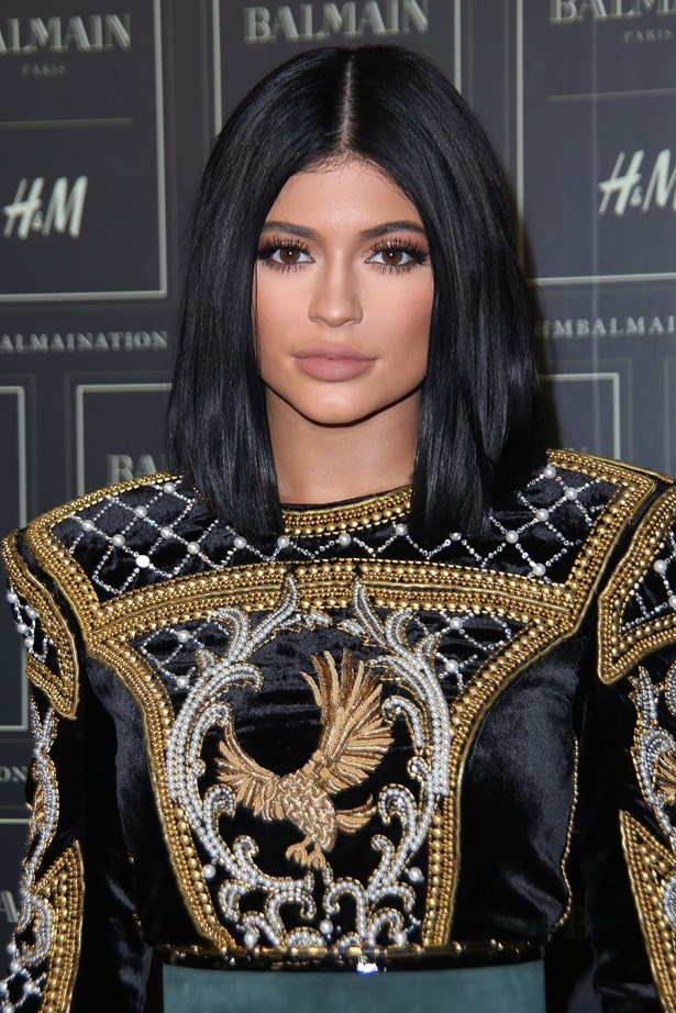 <p><strong>3. 3 October</strong></p> <p>Kylie wore a poker straight bob to the launch night of Balmain X H&M.</p>